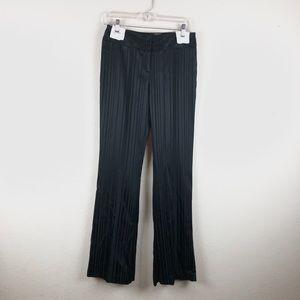 Cache | Stripped Silk Black Pants